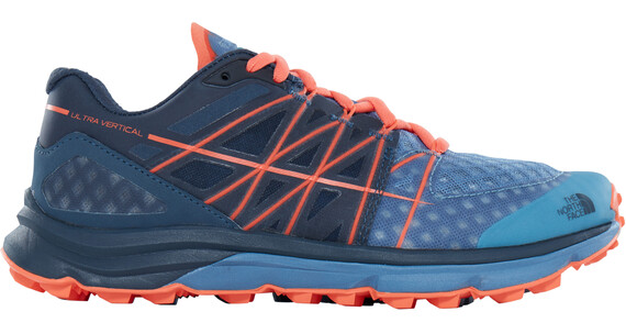 The North Face Ultra Vertical Running Trail Shoes Ladies Provincial Blue/Nasturtium Orange